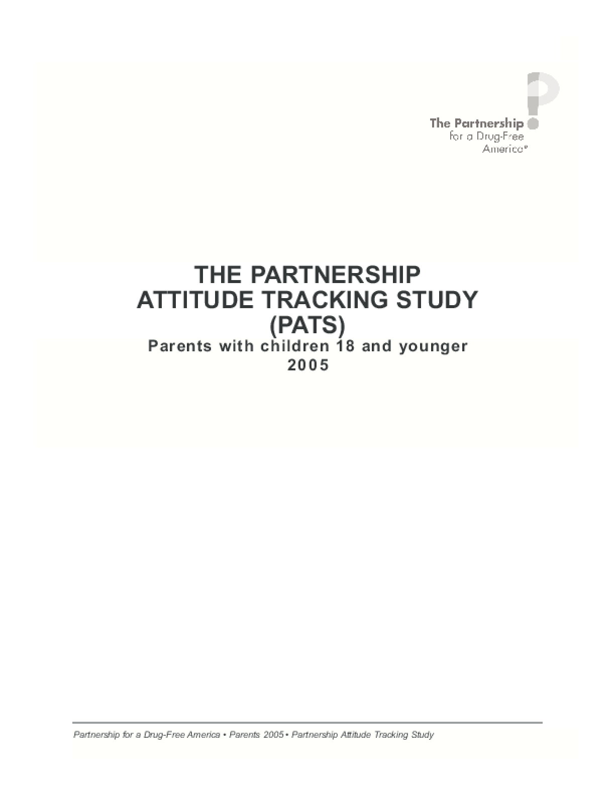 The Partnership Attitude Tracking Study
