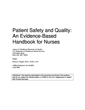Patient Safety and Quality: An Evidence-Based Handbook for Nurses