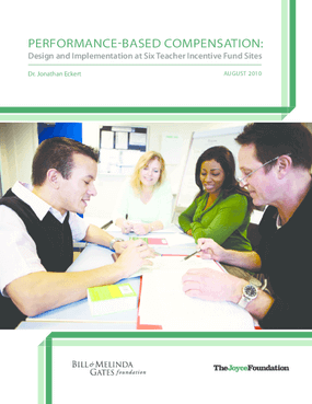 Performance-Based Compensation: Design and Implementation at Six Teacher Incentive Fund Sites