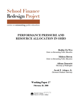 Performance Pressure and Resource Allocation in Ohio