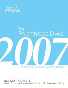Philanthropic Divide 2007 Update Report