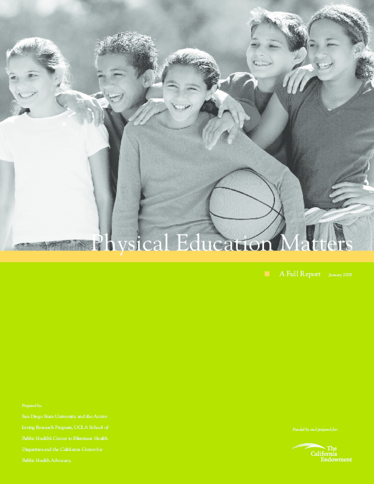 Physical Education Matters: A Full Report