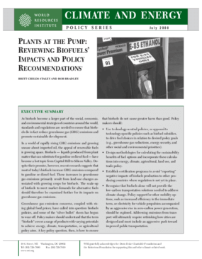 Plants at the Pump: Reviewing Biofuels' Impacts and Policy Recommendations