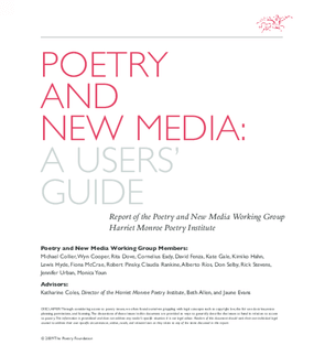 Poetry and New Media: A Users Guide