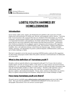 LGBTQ Youth Harmed by Homelessness