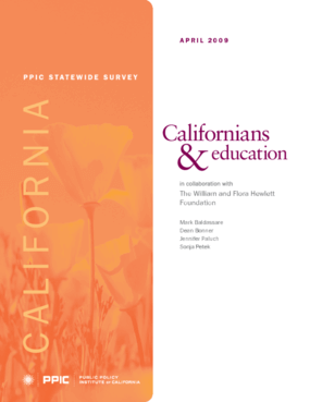 PPIC Statewide Survey: Californians and Education 2009