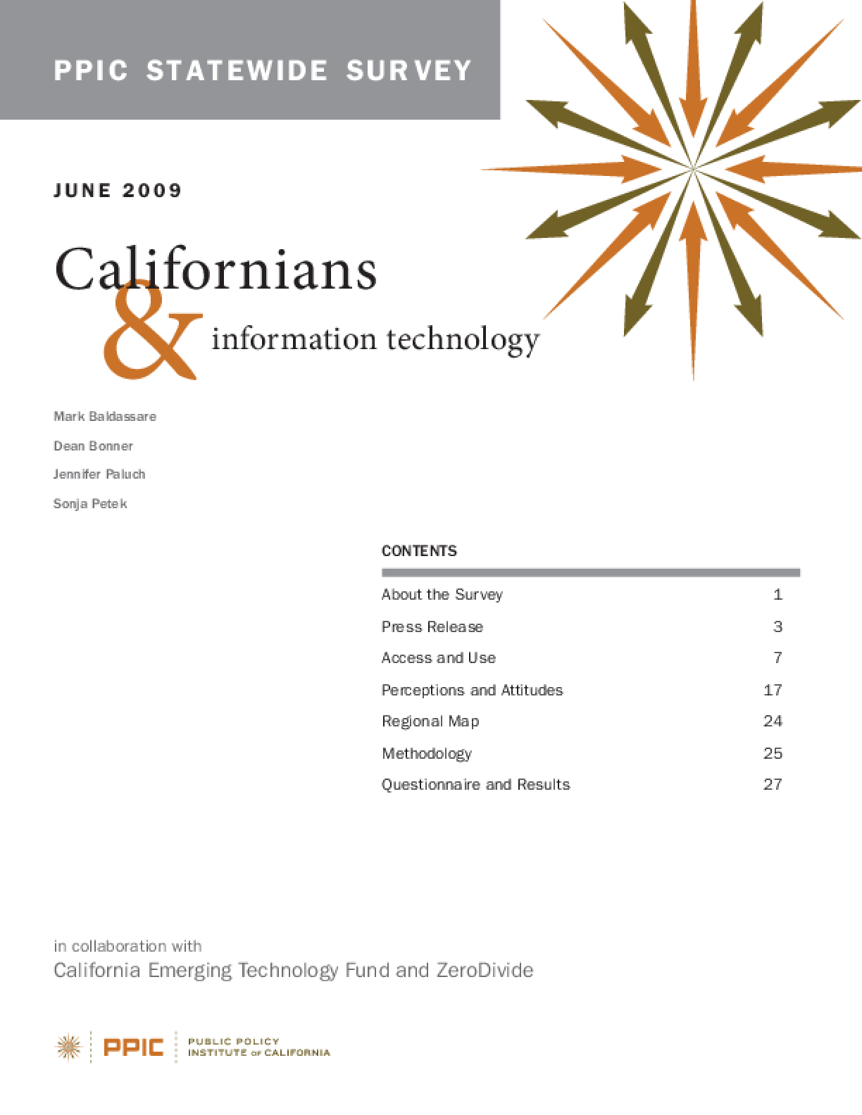 PPIC Statewide Survey: Californians and Information Technology