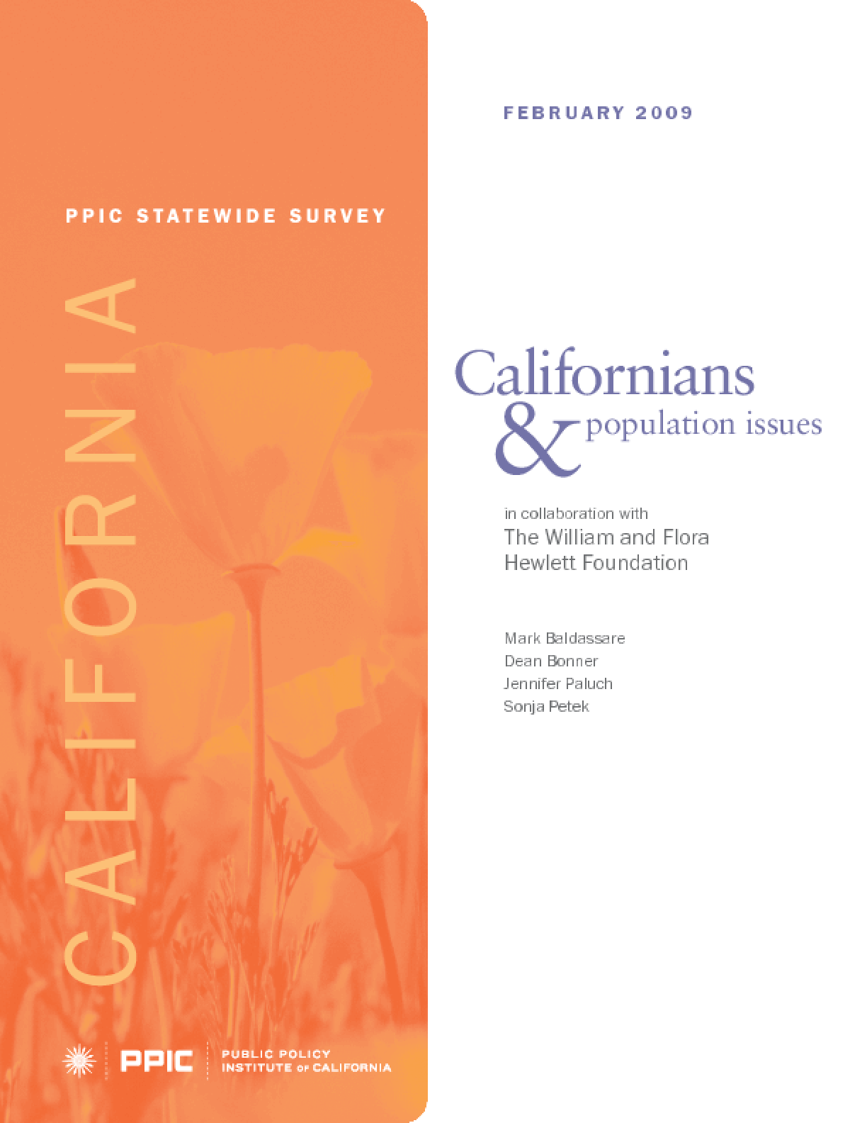 PPIC Statewide Survey: Californians and Population Issues
