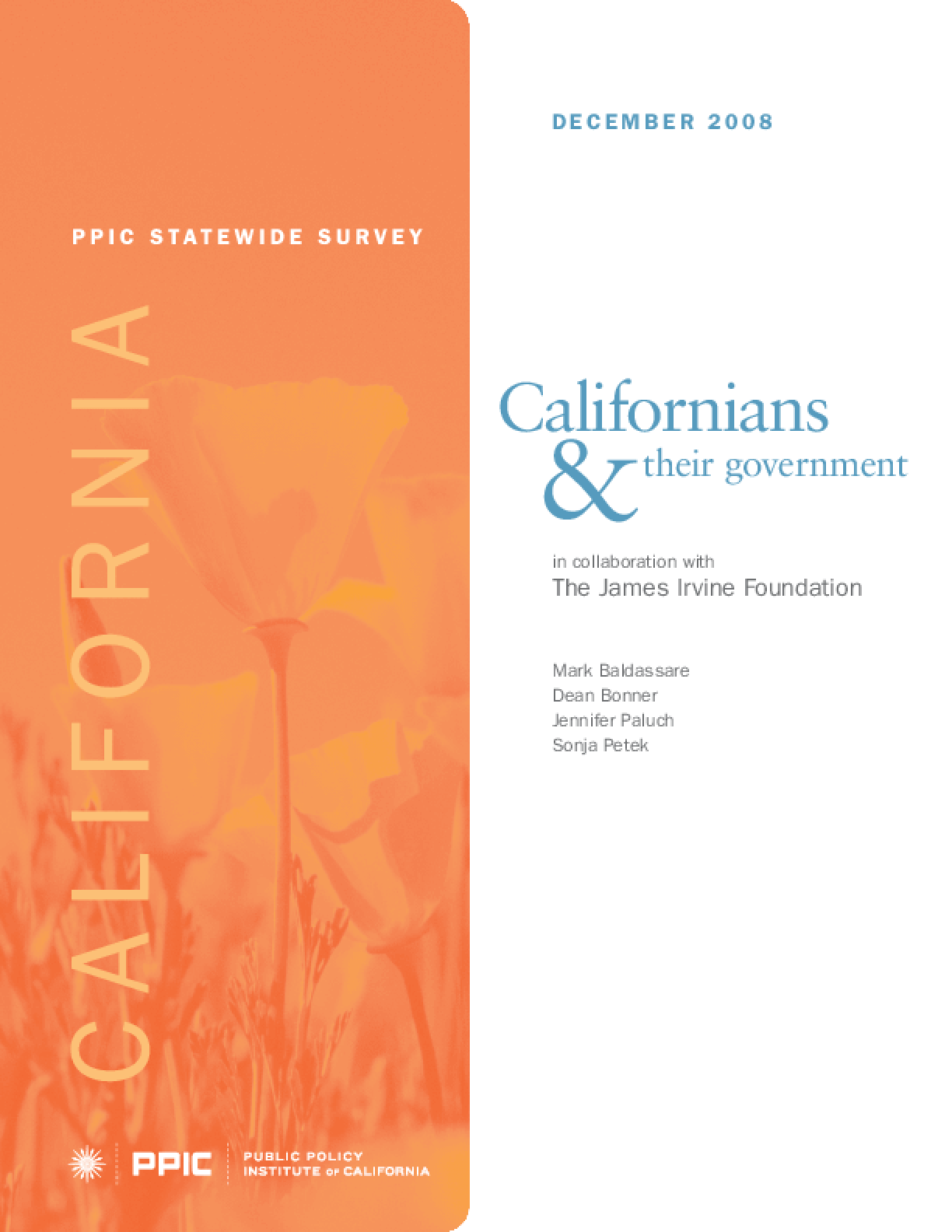 PPIC Statewide Survey: Californians & Their Government 2008