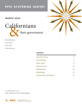 PPIC Statewide Survey: Californians and Their Government March 2010
