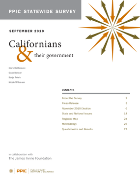 PPIC Statewide Survey: Californians and Their Government September 2010