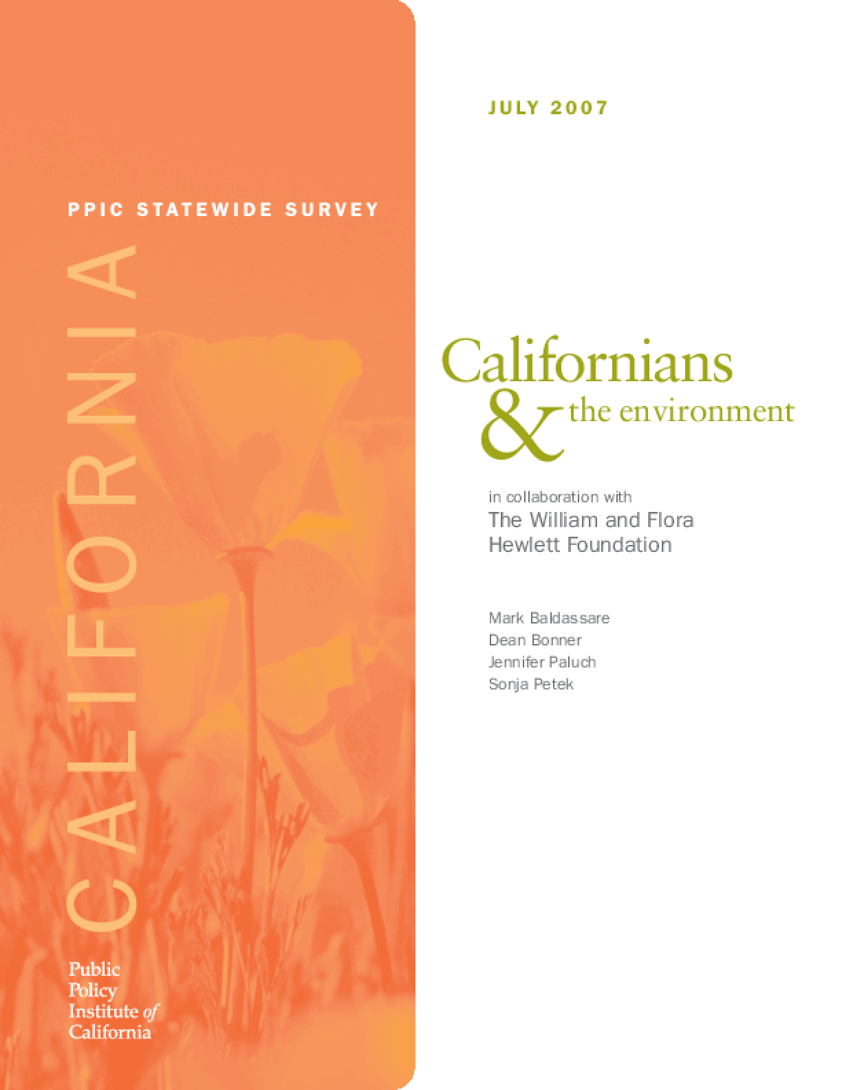 PPIC Statewide Survey: Californians and the Environment 2007