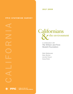 PPIC Statewide Survey: Californians and the Environment 2008