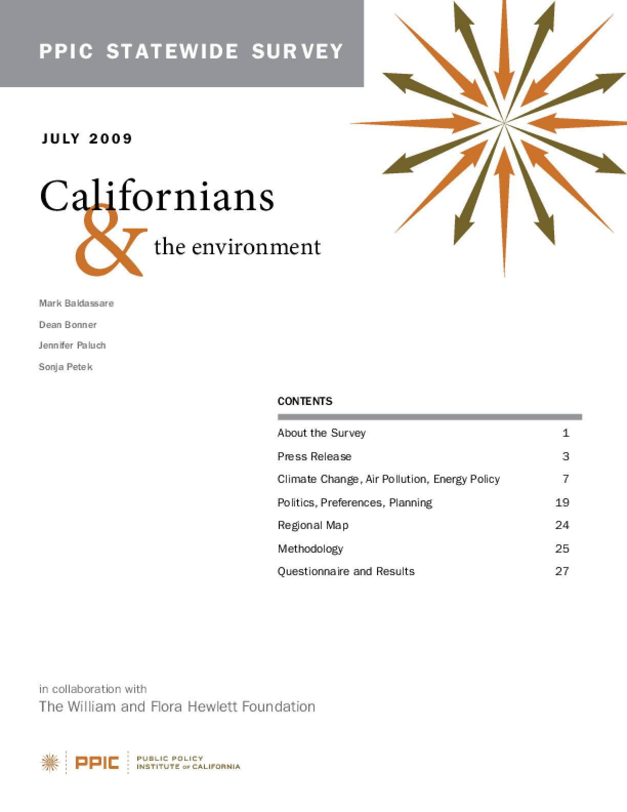 PPIC Statewide Survey: Californians & the Environment 2009