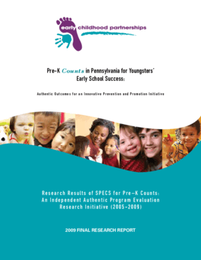 Pre-K Counts in Pennsylvania for Youngsters' Early School Success: Authentic Outcomes for an Innovative Prevention and Promotion Initiative