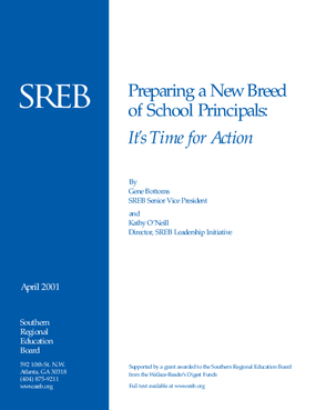 Preparing a New Breed of School Principals: It's Time for Action
