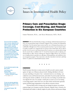 Primary Care and Prescription Drugs: Coverage, Cost-Sharing, and Financial Protection in Six European Countries