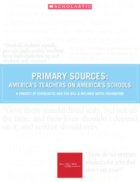 Primary Sources: America's Teachers on America's Schools