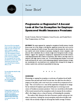 Progressive or Regressive? A Second Look at the Tax Exemption for Employer Sponsored Health Insurance Premiums