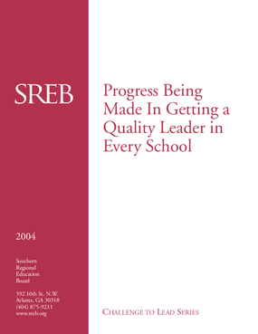 Progress Being Made in Getting a Quality Leader in Every School
