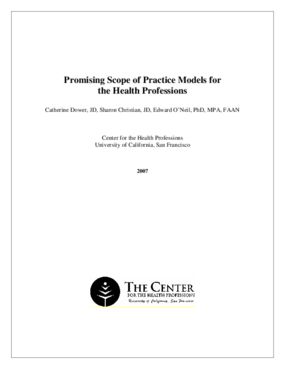 Promising Scope of Practice Models for the Health Professions