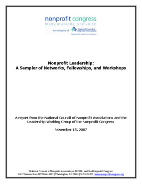Nonprofit Leadership: A Sampler of Networks, Fellowships, and Workshops