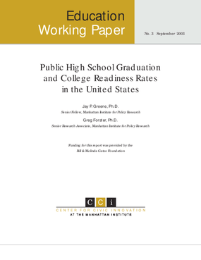 Public High School Graduation and College Readiness Rates in the United States