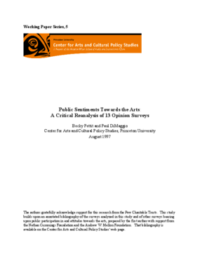 Public Sentiments Towards the Arts: A Critical Reanalysis of Thirteen Opinion Surveys