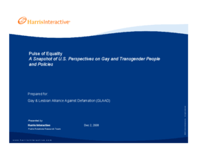 Pulse of Equality: A Snapshot of U.S. Perspectives on Gay and Transgender People and Policies