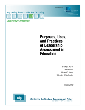 Purposes, Uses, and Practices of Leadership Assessment in Education