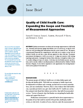 Quality of Child Health: Expanding the Scope and Flexibility of Measurement Approaches