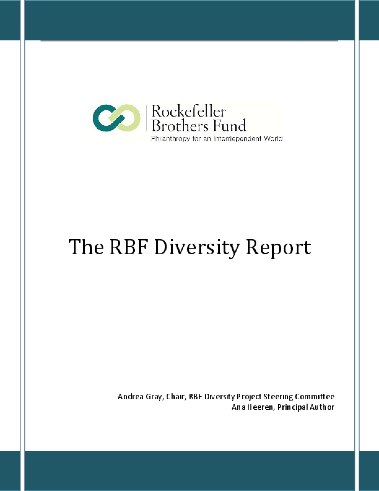 The RBF Diversity Report