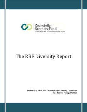 The RBF Diversity Report