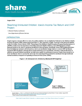 Reaching Uninsured Children: Iowa's Income Tax Return and CHIP Project