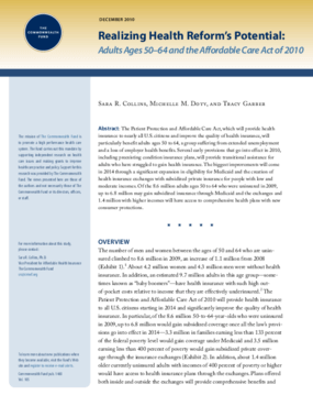 Realizing Health Reform's Potential: Adults Ages 50-64 and the Affordable Care Act of 2010
