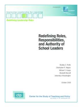 Redefining Roles, Responsibilities, and Authority of School Leaders