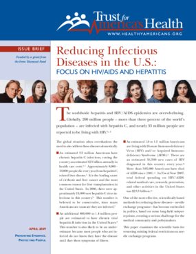 Reducing Infectious Diseases in the U.S.: Focus on HIV/AIDS and Hepatitis