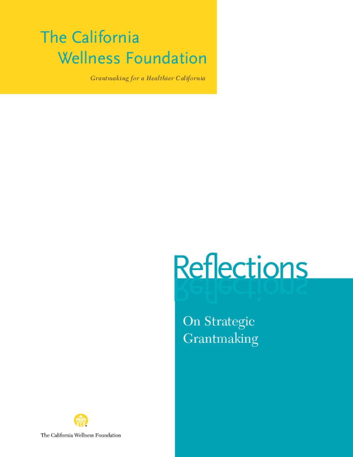 Reflections on Strategic Grantmaking