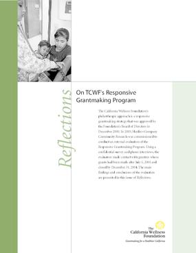 Reflections on TCWF's Responsive Grantmaking Program