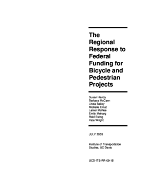 The Regional Response to Federal Funding for Bicycle and Pedestrian Projects