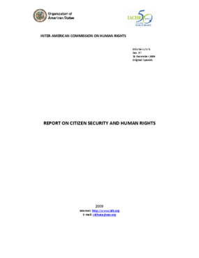 Report on Citizen Security and Human Rights