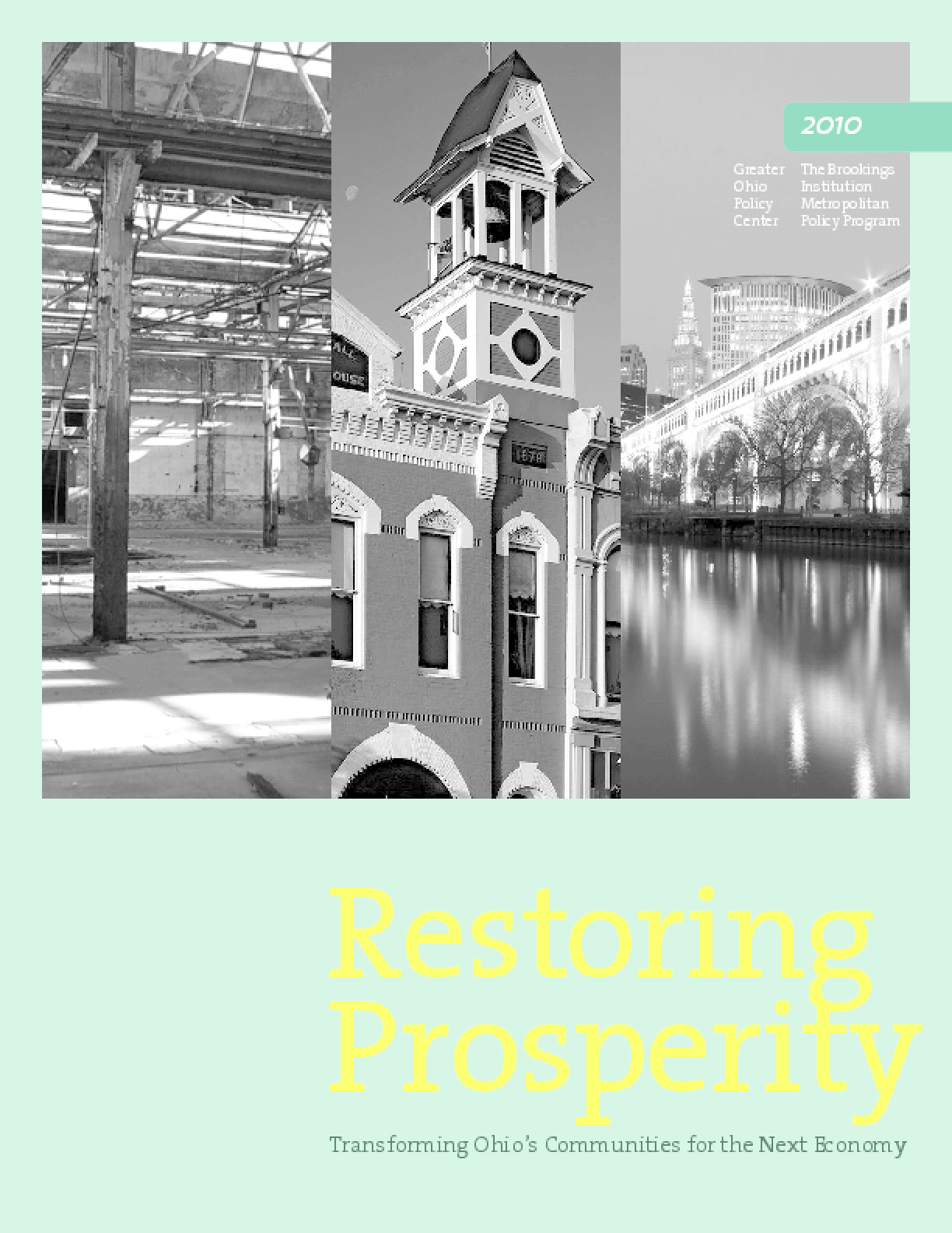 Restoring Prosperity: Transforming Ohio's Communities for the Next Economy
