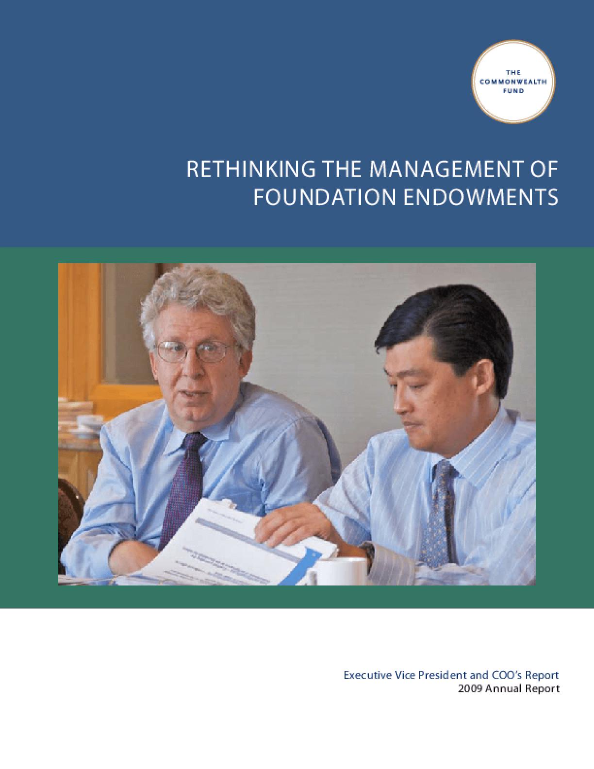 Rethinking the Management of Foundation Endowments