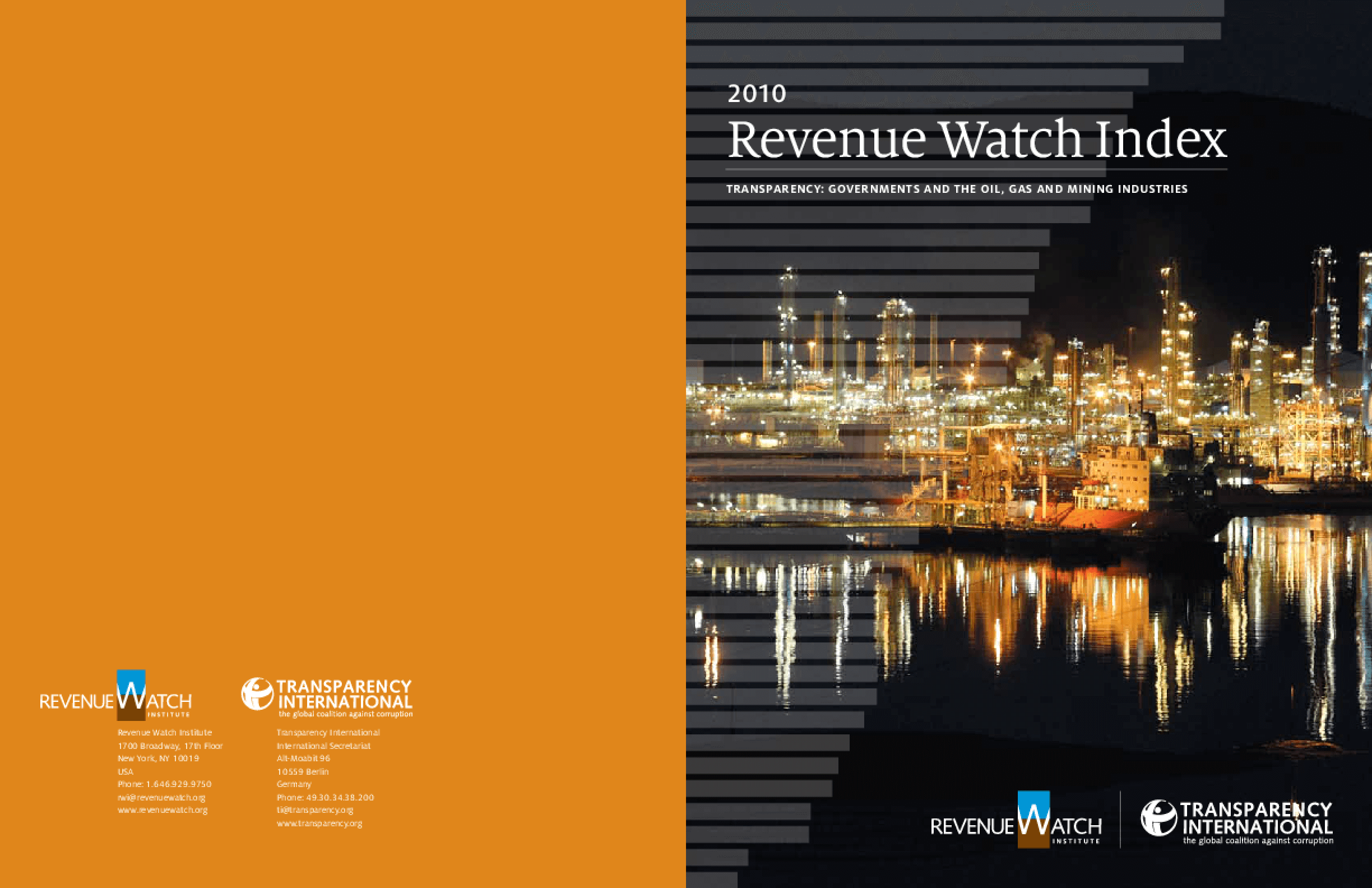 Revenue Watch Index: Transparency: Governments and the Oil, Gas and Mining Industries