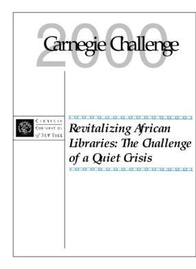 Revitalizing African Libraries: The Challenge of a Quiet Crisis