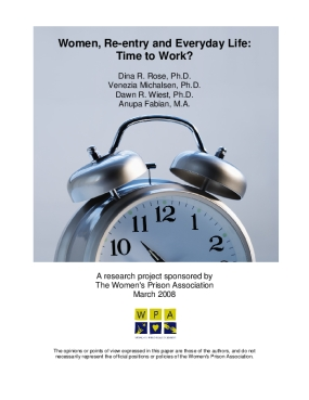 Women, Reentry and Everyday Life: Time to Work?