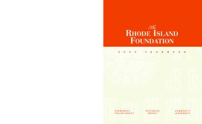Rhode Island Foundation - 2008 Annual Report