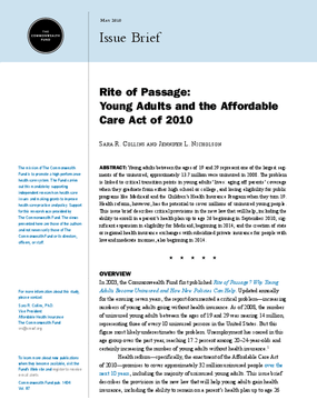 Rite of Passage: Young Adults and the Affordable Care Act of 2010