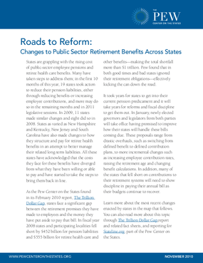 Roads to Reform: Changes to Public Sector Retirement Benefits Across States