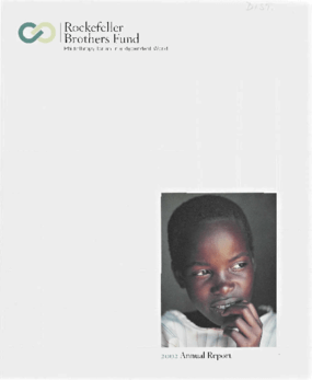 Rockefeller Brothers Fund - 2002 Annual Report